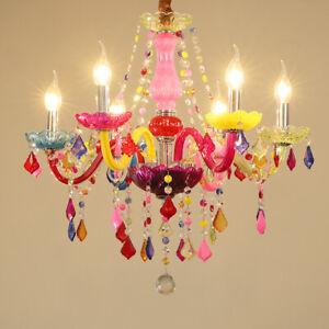 Modern Multicolour Crystal Glass Candelabra Ceiling Chandelier Pendant 6/8 Lamps