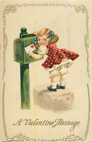 Postcard A Valentine Message, Embossed, Posted 1914