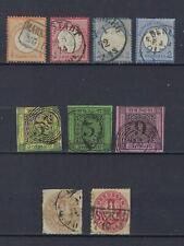 ALLEMAGNE Lot Second choix Oblitérés/Used 9 timbres  1851-1900