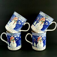 Epoch Mr Snowman 4 Christmas Winter Coffee Cocoa Mugs 4 inch More Pcs Available