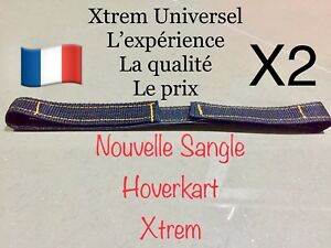 2 Sangles Hoverkart XTREM UNIVERSEL Fixation Hover Go Kart Scratch Attache
