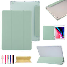 """For iPad Pro 11"""" 2020/Air 3/Mini Smart Cover+Pencil Holder Soft Clear Back Case"""