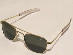 52mm Gold Frames American Optical AO Pilot Sunglasses