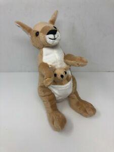 "Wishpets Saandra Kangaroo Plush Stuffed Animal Toy 2009 10.5"" Baby Joey In Pouch"