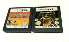 2 Game Professor Layton Lot (Nintendo DS, 2009) - Cartridges Only - Tested