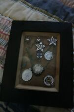Vintage Framed Religious Medallions and Catholic School Medals