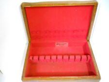 Vtg Wm. Rogers Wood Silverware Drawer Storage Case Chest Box Tarnish Resistant