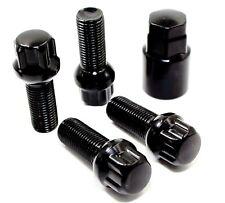 "4 14x1.5 28mm 2.10"" R12 Ball Seat Black Wheel Locks for Mercedes Factory Wheels"