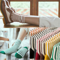 Fashion Women Striped Ankle Socks Winter Warm Hosiery Elastic Cotton Ankle Socks