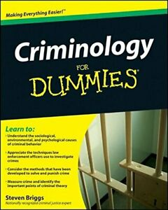Criminology For Dummies by Briggs, Steven Paperback Book The Cheap Fast Free