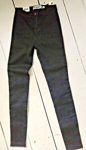 The Rockn Rev R&R black stretch skinny jeans BNWT lovely heavy weight denim UK 6
