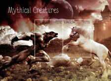 LIBERIA - Mythical Creatures - Unicorn -  werewolf - S/S of 2 stamps - MNH