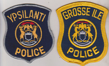 Ypsilanti & Grosse Ile Township MI Police patches