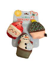 Fringe |  Christmas Cupcakes - Set Of Three | Squeaky Plush Dog Toy