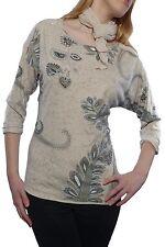 Locker sitzende Damen-Shirts mit Carmen-Ausschnitt aus Baumwolle