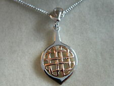Clogau Silver & Rose Welsh Gold Celtic Pendant RRP £179.00