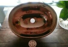 Beautiful Handmade Moroccan Hammered Oval Copper Sink