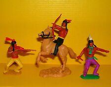 Timpo 3x Indianer G2 Reiter Krieger Waffen Zubehör Western Wildwest Toys (2)
