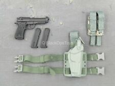 1/6 Scale Toy US Army Rifleman UCP - Spring Loaded M9 Pistol w/Drop Leg Holster