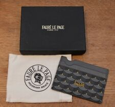 NEW Faure Le Page Steel Grey 4CC Card Holder Case Wallet Porte Cartes France