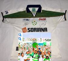 CLUB SANTOS Mexico autographed signed 2001 Champ Jersey JARED BORGETTI PONY Ruiz