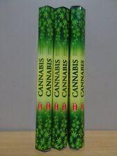 Cannabis Incense 3 Packs x 20 Sticks Hem Hex Free Post AU