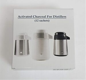 12 Activated Charcoal Sachet Filters For All Water Distillers