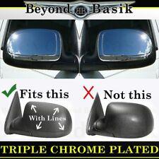 1999-2006 Chevy Silverado GMC Sierra Triple Chrome Mirror Covers Overlays