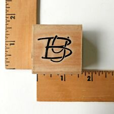 Stamp Cabana Rubber Initials BY