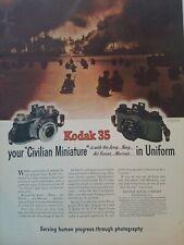 1944 WWII era Kodak 35 camera u.s. Signet corps photo soldiers water ad