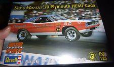 REVELL SOX & MARTIN 1970 PLYMOUTH HEMI CUDA 1/25 Model Car Mountain KIT fs