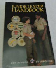 Junior Leader Handbook, Boy Scouts Of America