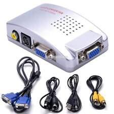 PC Laptop Mac VGA to TV AV S Video RCA VGA Signal Converter Switch Box Composite