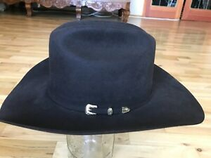 """New SERRATELLI 6X Beaver Beaumont Brown 4"""" Western Cowboy Hat  7 3/8 Made in USA"""