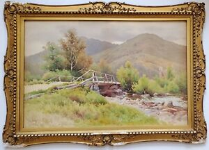 William F. Paskell 19th Century (1898) Original Watercolor (Oil) Painting