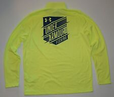 Under Armour Mens Dockside Storm Fishing 1/4 Zip Mock Pullover 1273947 NWT Neon