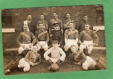 Warwickshire Regiment Football 1908/9 RP  Whittington Barracks postmark Ref K277