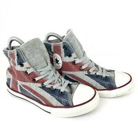 Converse Chuck Taylor All Star Junior Size 3 British Flag Sneakers Shoes 640565C