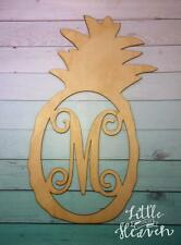 "18"" Pineapple wood cut out , Solid plain 18in tall birch wood, 1/8 thin wood"