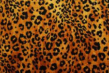 Ciniglia fulva leopardata STOFFA AL METRO TESSUTO A METRAGGIO