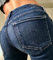 Citizens of Humanity Arielle Mid Rise Skinny womens Denim Jeans size 0 25 x 29
