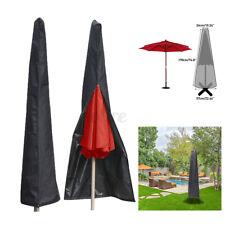 Umbrella Protective Canopy Cover Bag Patio Market Beach Outdoor fit 6-11ft Black