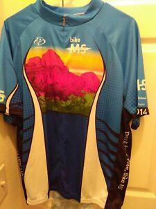Primal Men's Cycling Jersey Sedona Ride The Vortex Size XXXL Bike MS Blue