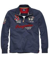 Sale%La Martina - Herren Poloshirt Langarm - Blau -T-Shirt Poloshirt Hemd-Size:L