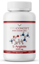 L-Arginin hochdosiert I 1000 mg pro Kapsel I vegan I 98,7% reines L-Arginin