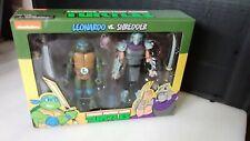 NECA TMNT Leonardo vs. Shredder 2-pack NEW Teenage Mutant Ninja Turtles