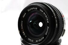 [Near Mint] OLYMPUS OM-SYSTEM ZUIKO AUTO-W 21mm f/3.5 w/Filter F/S Japan 446