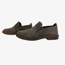 CLARKS SOMERSET Ladies Womens Shoes Size UK 6D EU 39.5 Beige Suede Slip on Flats