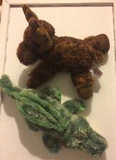 Aurora Bean Bag Moose And Alligator Plush