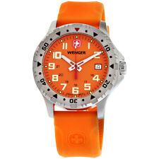 Wenger Off Road Quartz Movement Orange Dial Men's Watch 79303W